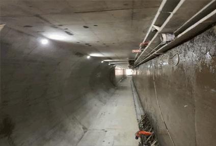 深圳地铁十一号线地铁维修中心隧道防火涂料65000平方
